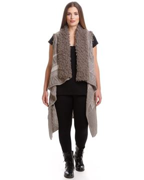 Picture of knit vest without sleeves - beige