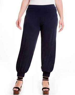 Image de Pantalon sarouel noir, bleu foncé, cigar