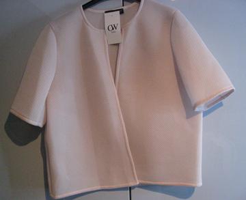 Image de Veste courte/Boléro blanc et rose