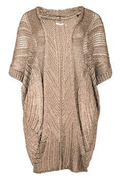 Image de veste crochetée beige