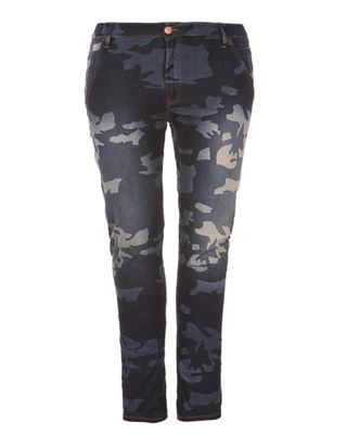 Picture of Military-blue slim leg jeans