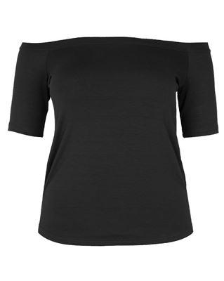 Bild von T-Shirt Carmenausschnitt schwarz